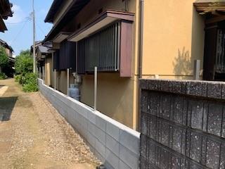 ブロックとフェンス施工