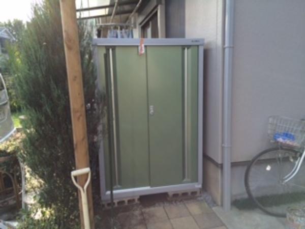 千葉県印西市 K様邸 イナバ物置シンプリー施工のサムネイル