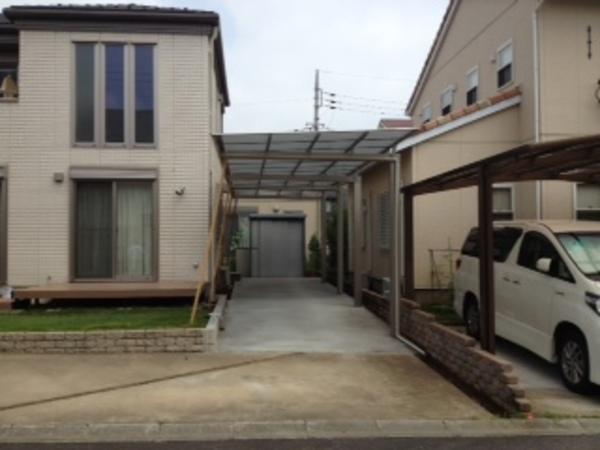 茨城県稲敷郡阿見町のN様邸 カーポートマイリッシュ逆勾配施工のサムネイル