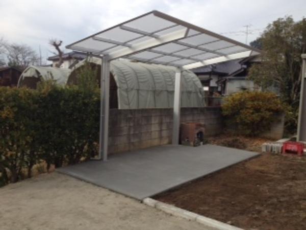 茨城県取手市 サイクルポート&駐車場砕石敷きのサムネイル