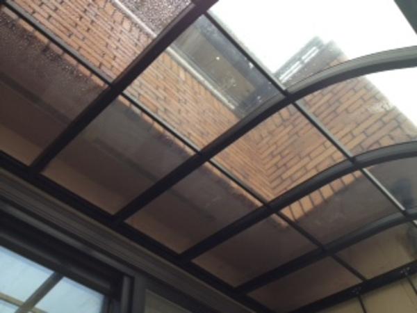 茨城県牛久市 テラス屋根材取り替え追加補強 2014年3月のサムネイル