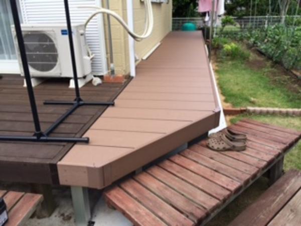千葉県印西市 Y様邸 樹脂ウッドデッキひとと木2施工