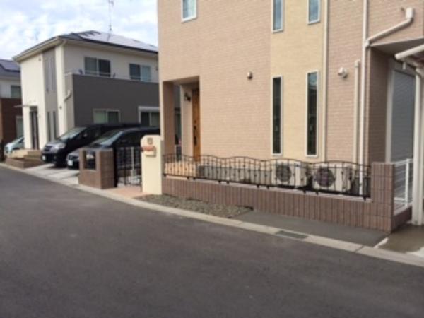 茨城県阿見町 S様邸 鋳物フェンスでかわいいエクステリア