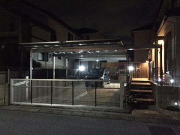 茨城県龍ヶ崎市 T様邸 電動跳ね上げ門扉施工!