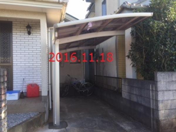 千葉県八街市 H様邸 レイナポートグラン1台用間口切詰施工!