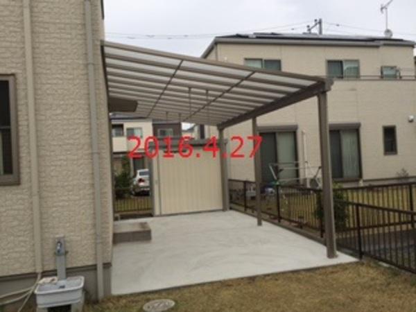 茨城県取手市 H様邸 大きなテラスと土間コンクリート打設!