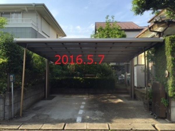 茨城県守谷市 H様邸 カーポート 4Gワイド施工!