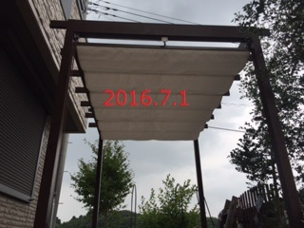茨城県龍ヶ崎市 M様邸 ロール式開閉シェード施工!