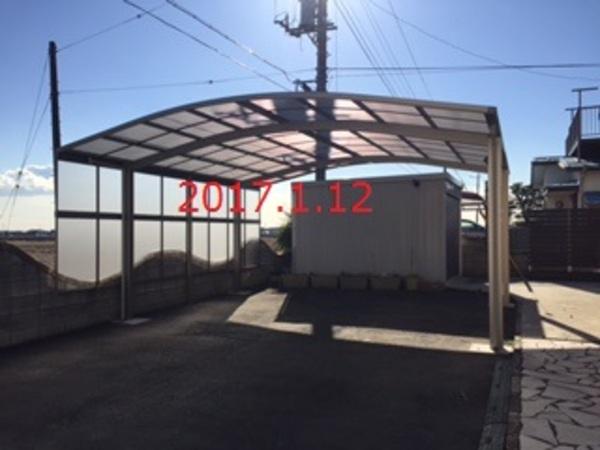茨城県つくばみらい市 N様邸 カーポート側面パネル施工!