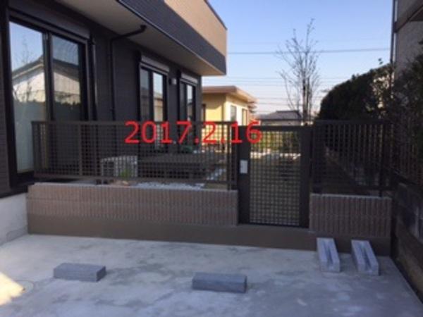 千葉県印旛郡酒々井町 A様邸 表札とフェンスと門扉設置工事のサムネイル