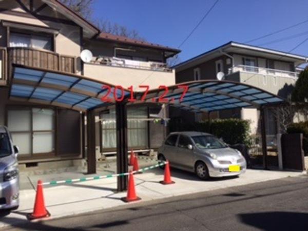 茨城県守谷市 K様邸 既存カーポートのY合掌取付!