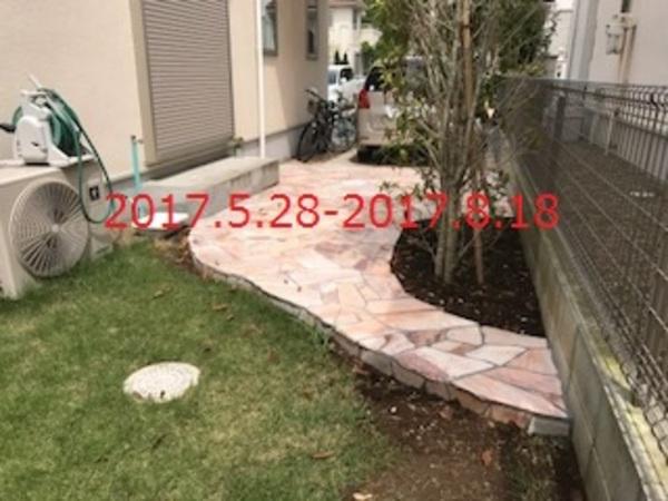 千葉県船橋市 I様邸 天然石貼り床&立水栓設置工事!