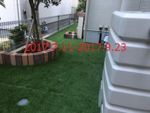 千葉県柏市 T様邸 人工芝とレンガ花壇コラボ!