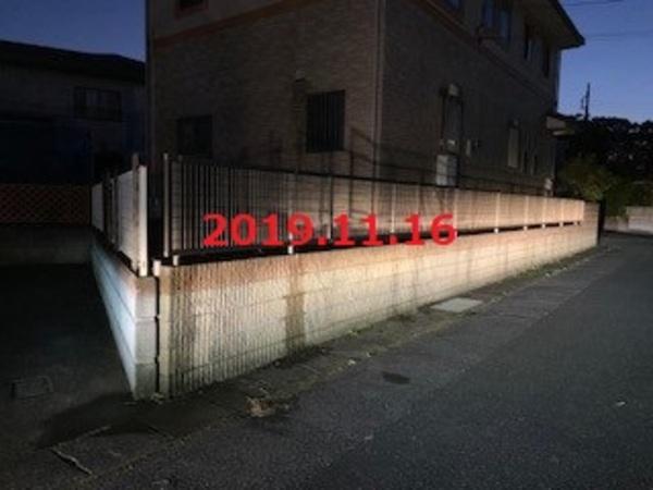 茨城県龍ヶ崎市 H様邸 フェンス&物置復旧工事!
