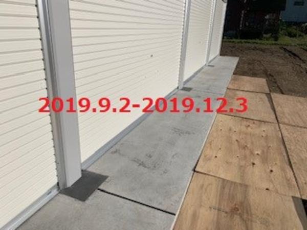 千葉県白子町 K様邸 ガレーディア4連棟設置工事!
