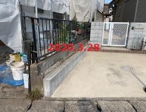 千葉県八千代市 N様邸 フェンス&ブロック復旧工事!