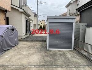 茨城県取手市 K様邸 イナバ バイク保管庫施工!